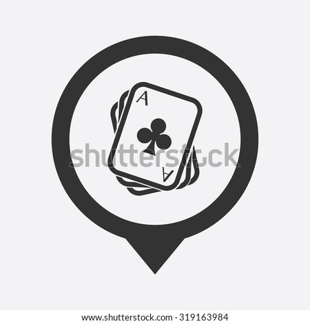 Vector illustartion of poker and gambling icon