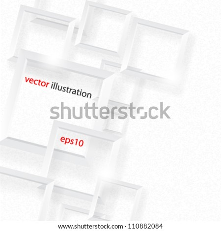 Vector illustraction elegant square background concept design - eps10 - stock vector