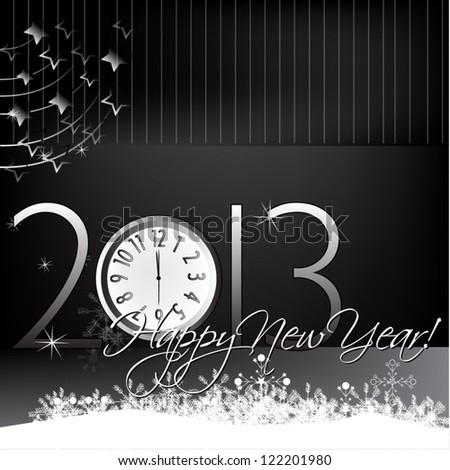 vector illustrated greeting card for new year's eve - stock vector