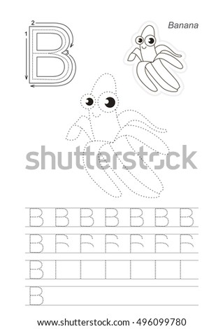 b is for banana arkivbilder avgiftsfrie bilder og vektorer shutterstock. Black Bedroom Furniture Sets. Home Design Ideas