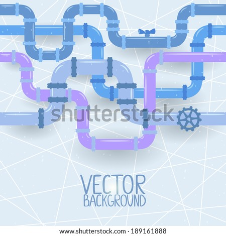 vector illustration abstract background of multicolored pipes - stock vector