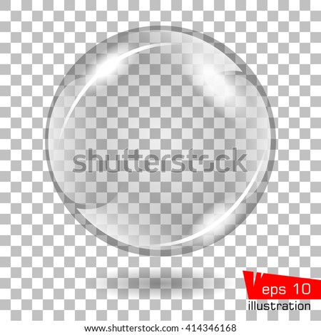 Vector illustration. Abstract background with glass sphere. - stock vector