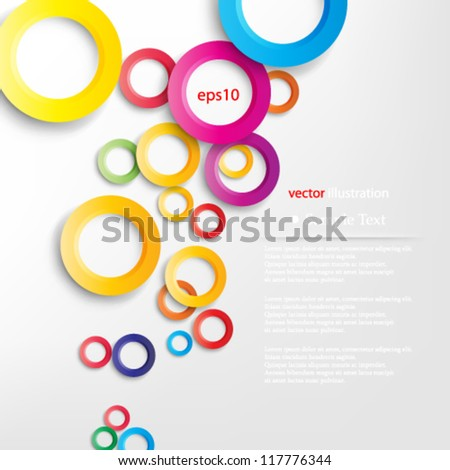 Vector illustration abstract bright colors geometric background with overlapping shadow design - eps10 - stock vector
