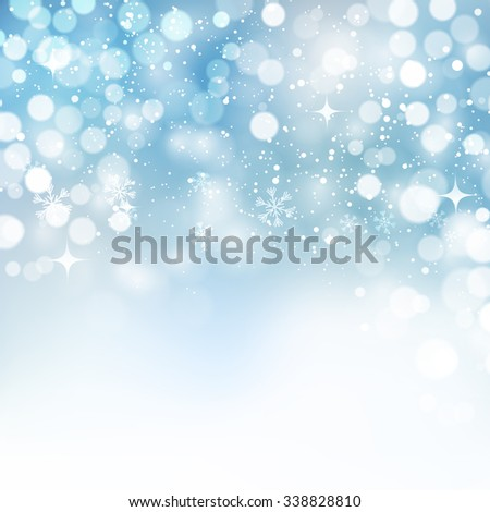 Vector illustration. Abstract Christmas snowflakes background. Blue color - stock vector
