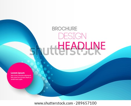 Vector illustration Abstract colorful transparent blue wave.  - stock vector