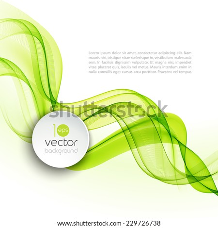 Vector illustration Abstract colorful transparent wave. EPS 10 - stock vector