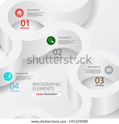 Vector illustration abstract 3D infograph concept design - eps10 - stock vector