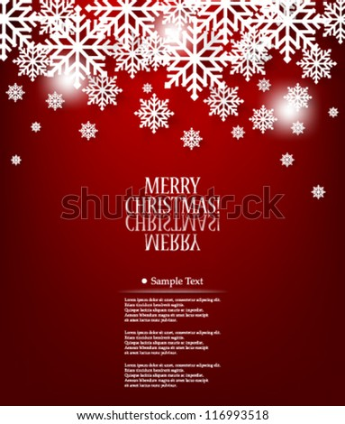 Vector illustration abstract elegant Christmas Background Design - eps10 - stock vector