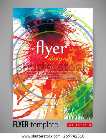 vector illustration abstract flyer template paint stock vector