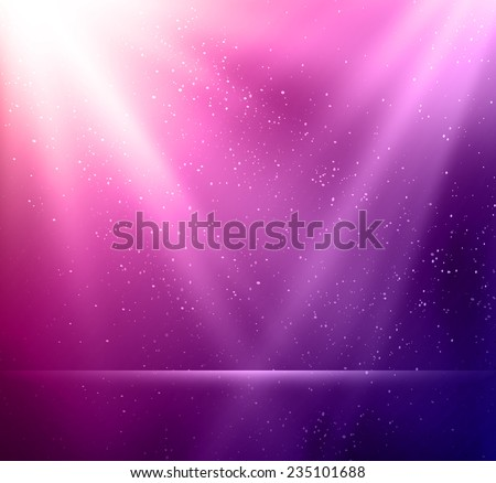 Vector  illustration Abstract magic violet light background. EPS 10 - stock vector