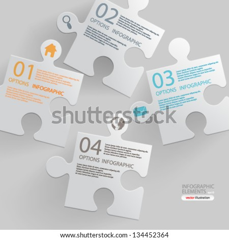 Vector illustration abstract modern infographic options banner design - eps10 - stock vector