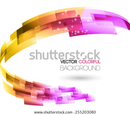 Vector illustration Abstract technology lines vector background.  - stock vector