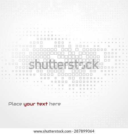 Vector illustration Abstract template brochure design with square mosaic background. Gray halftone - stock vector