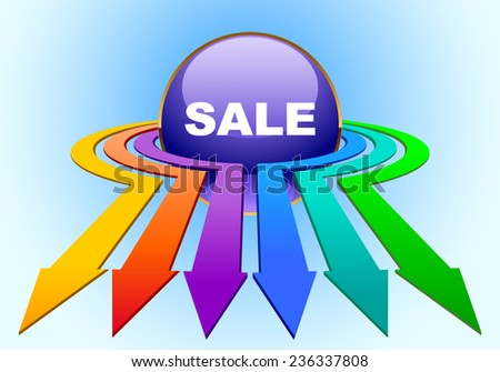 Vector illustration. All discounts come to us - stock vector