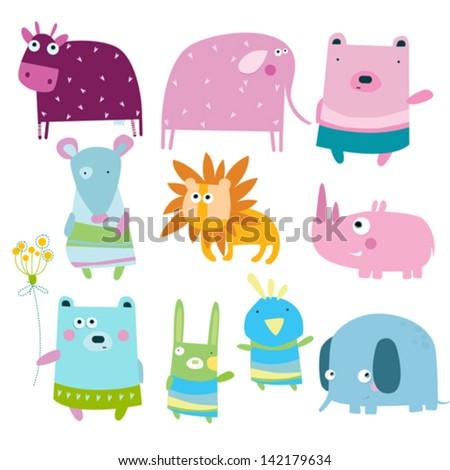 Vector illustration. animals - stock vector