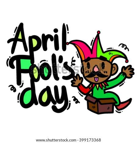 Vector Illustration, April Fool's Day - stock vector
