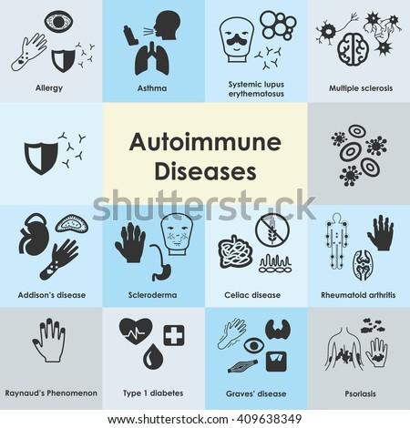 vector illustration autoimmune diseases icons autoimmune stock, Skeleton
