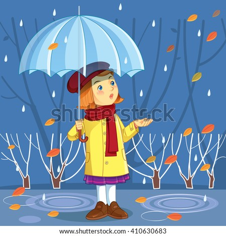 Vector illustration autumn.