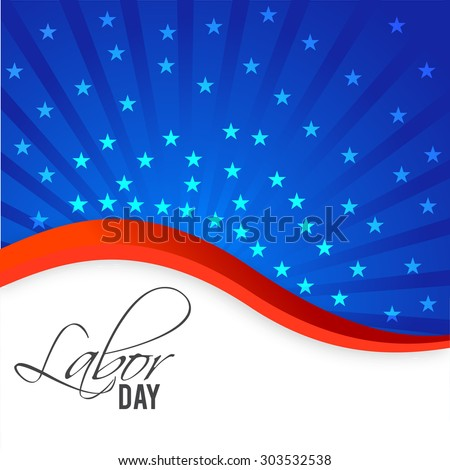 Vector illustration background with stylish text for labor day.