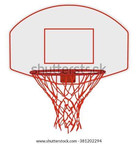 Vector illustration basketball basket, basketball hoop, basketball net. Basketball icon - stock vector