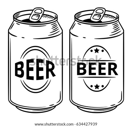 vector illustration beer can isolated on stock photo photo vector rh shutterstock com beer can vector image beer can outline vector