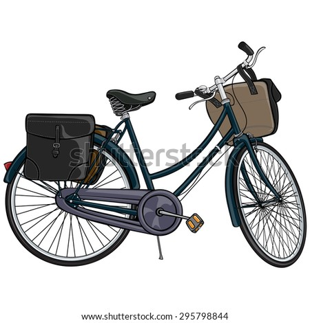 Vector illustration, bicycle, cartoon concept, white background.