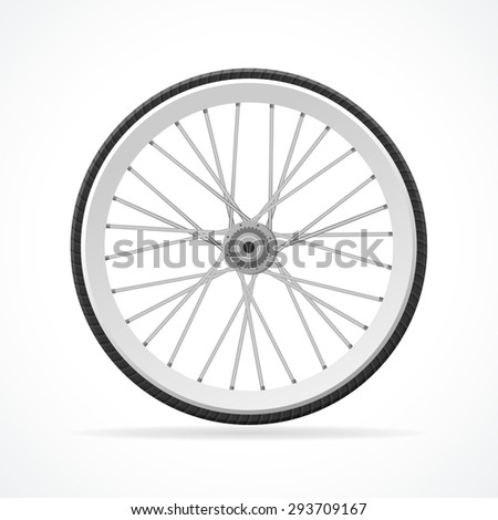 Vector illustration Bicycle Wheel isolated on a white background.