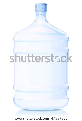 Vector illustration big bottle of water. Gradient only - stock vector
