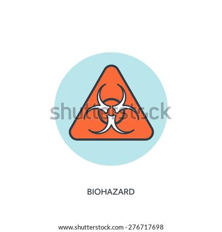 Vector illustration. Biohazard. Danger.  - stock vector