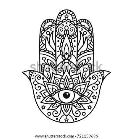 hamsa eye coloring pages - photo#13