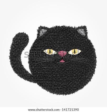 Vector Illustration/Black Cat
