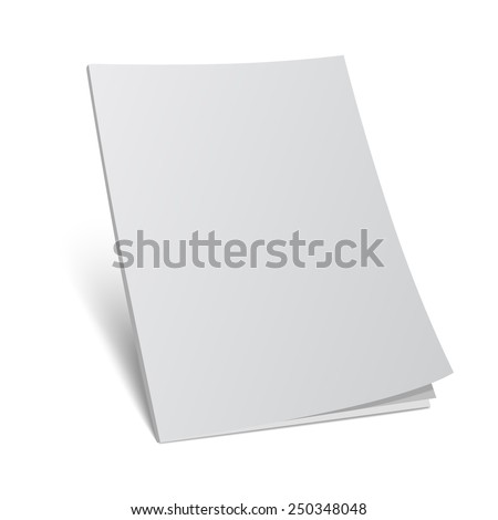 Vector illustration. Blank cover magazine template.3d book with blank cover. - stock vector