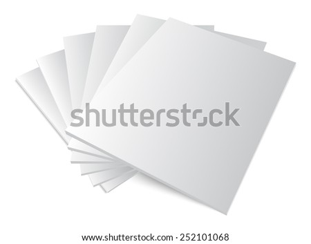 Vector illustration. Blank covers mockup magazine template on white background with soft shadows.3d image. - stock vector