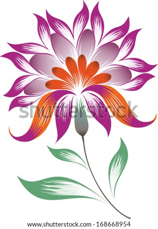 Vector illustration. Bright decorative abstract flower - vector illustration  - stock vector