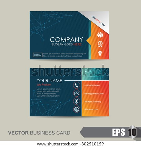 Vector illustrationbusiness card template abstract background trendy vector illustrationbusiness card template with abstract backgroundtrendy geometric business cards design vector reheart Image collections