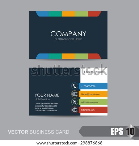 Vector illustration,business card template with clean and modern pattern - stock vector