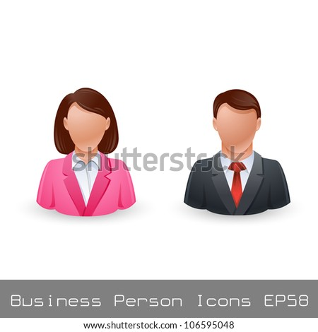 Vector Illustration Business Person User Icon EPS8 - stock vector