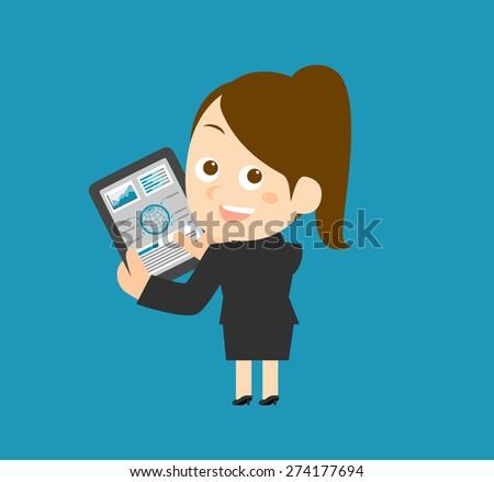Vector illustration - Businesswoman  - stock vector