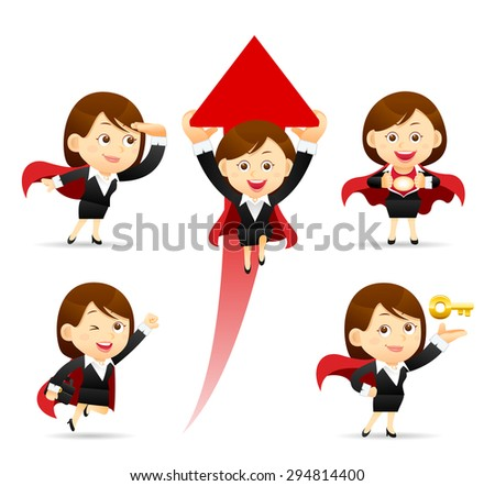 Vector illustration - Businesswoman  - stock vector