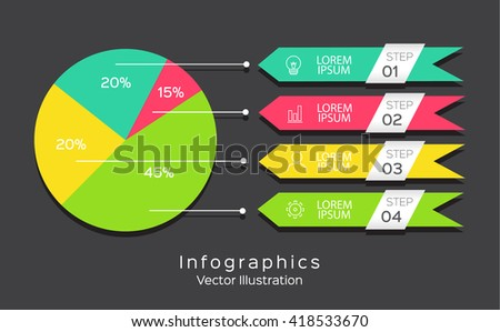 Vector illustration can be used for workflow, List of options, Infographic design template for business  - stock vector