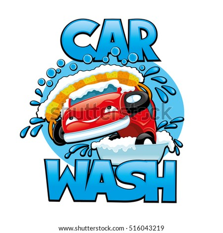 vector illustration car wash stock vector 2018 516043219 rh shutterstock com car wash vector art car wash vector free download