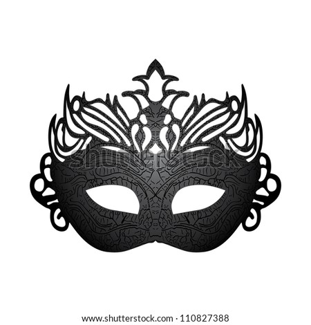 Vector illustration carnival mask isolated on white background.