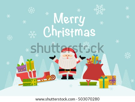 Vector illustration - Cartoon character Santa Claus