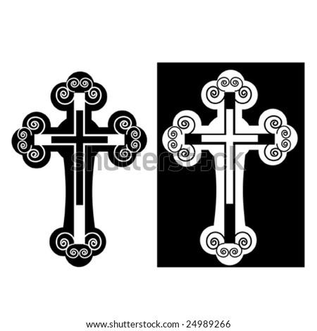 "vector illustration ""catholic cross"" - stock vector"