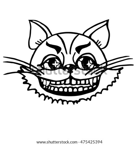 vector illustration cheshire cat for tale alice in wonderland