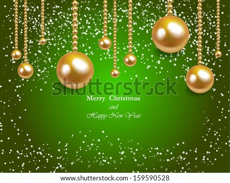 Vector illustration Christmas Background - stock vector
