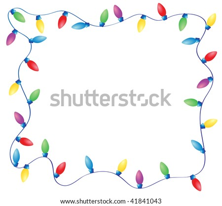 Christmas Lights Border Vector Free Images