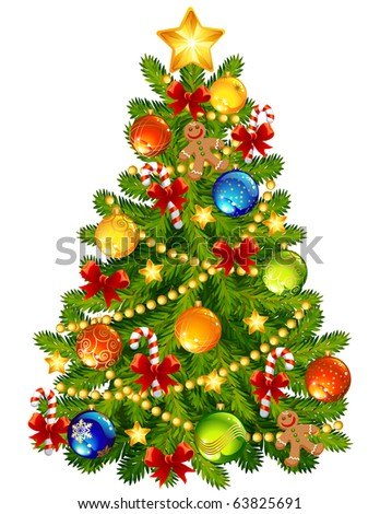 Vector illustration - Christmas tree