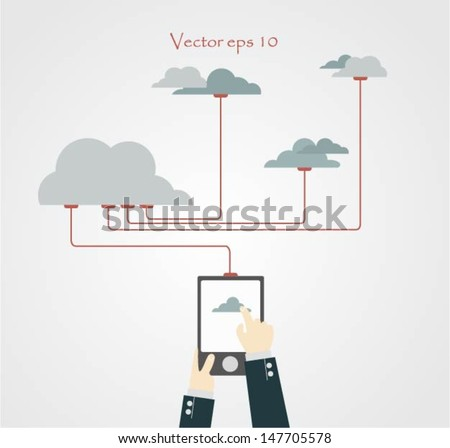 Vector illustration � Cloud Computing. - stock vector