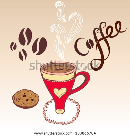 "Vector illustration ""Coffee"" - stock vector"